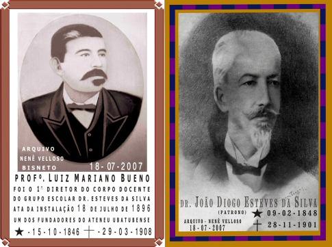 Professor Luiz Mariano Bueno e Dr. João Diogo Esteves da Silva - Imagem: © Arquivo Nenê Velloso