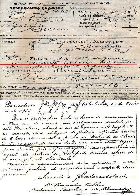 Comprovação da prisão do capitão Deolindo de Oliveira Santos. - Imagem: © Arquivo Nenê Velloso