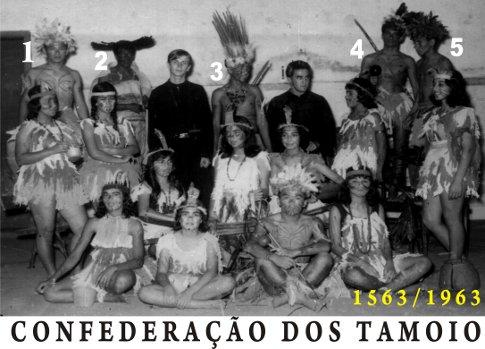 Representação da Confederação dos Tamoios - 1963. - Imagem: © Arquivo Nenê Velloso