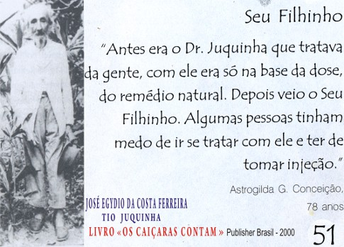José Egydio da Costa Ferreira, o Tio Juquinha. - Imagem: © Arquivo Nenê Velloso