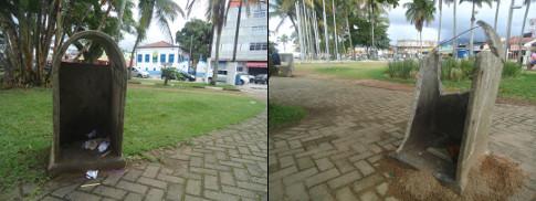Orla da praia do Cruzeiro (Iperoig), Centro, Ubatuba, SP.