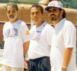 Luiz Roberto de Moura (esq) com Miguel Soares Rodrigues e Mauro Roberto Santos - Foto: Ricardo Faria